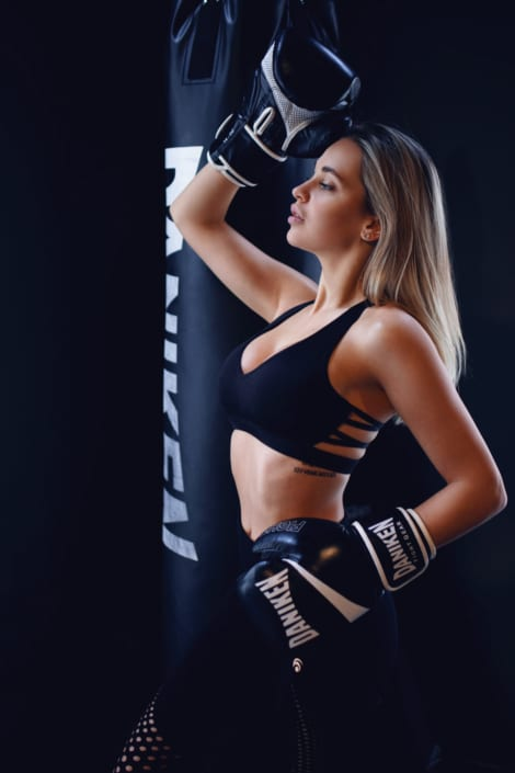 boxing fitness portrait