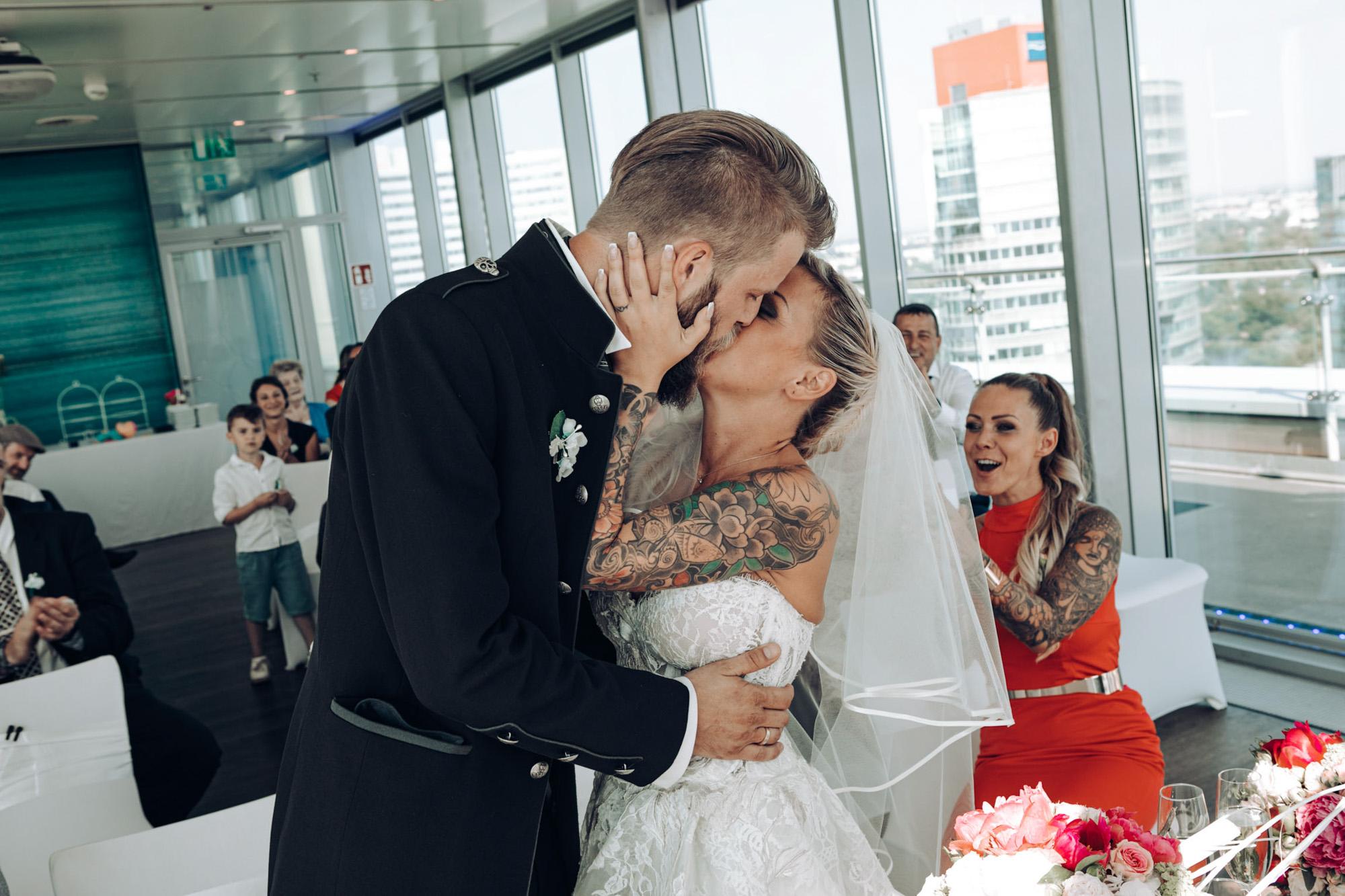 Hochzeitsfotografie Trauung mit Braut & Bräutigam